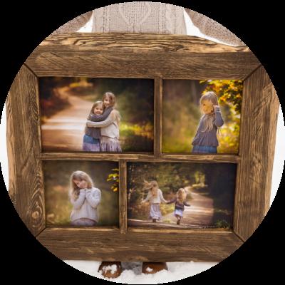 Wooden handicraft frames